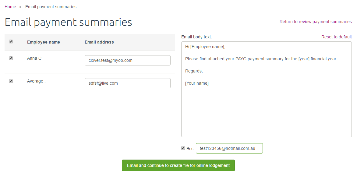 Solved: Email or Print Payment Summaries in MYOB Essential