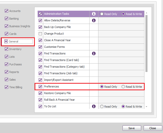 how to change read only myob file
