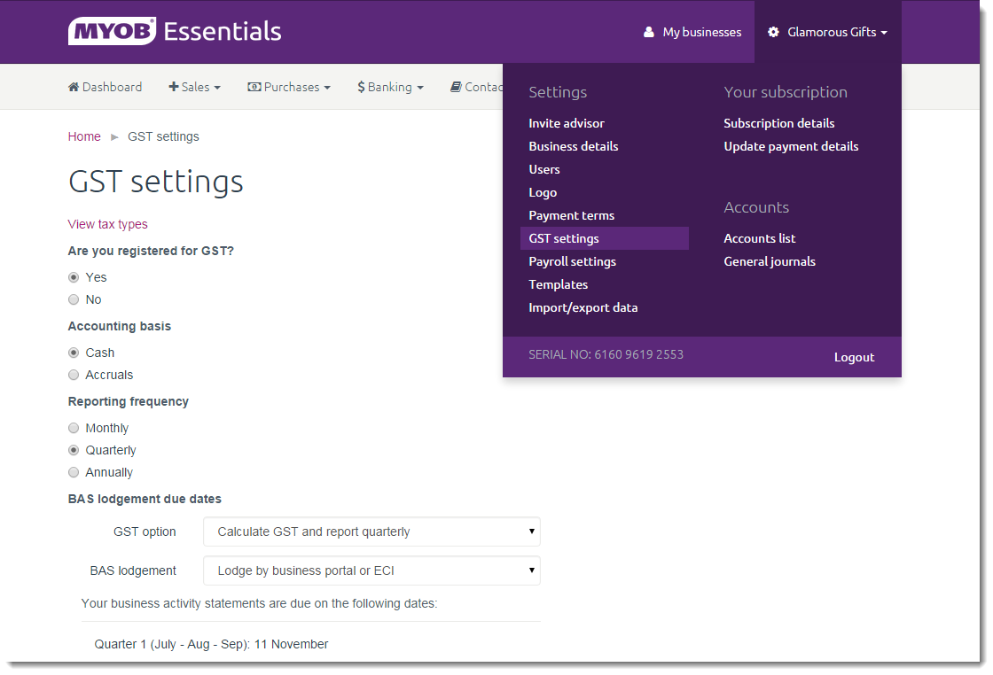 completing your bas from myob essentials