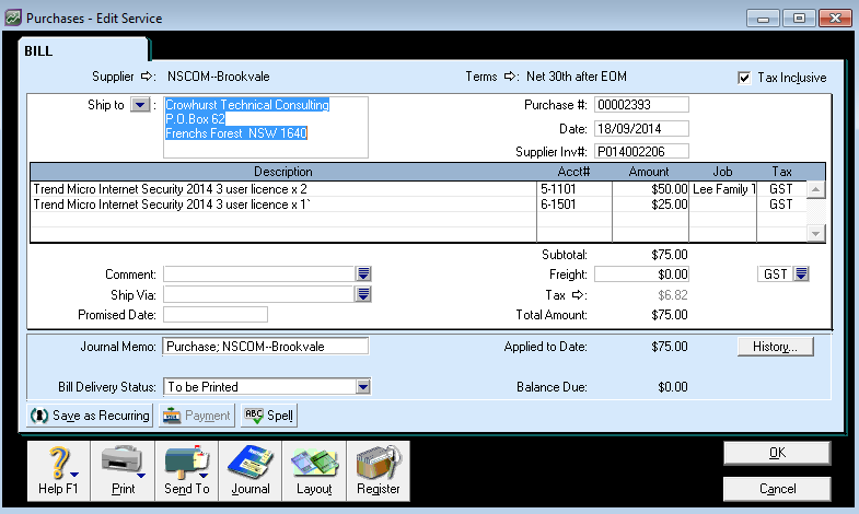 myob how to delete a recurring invoice