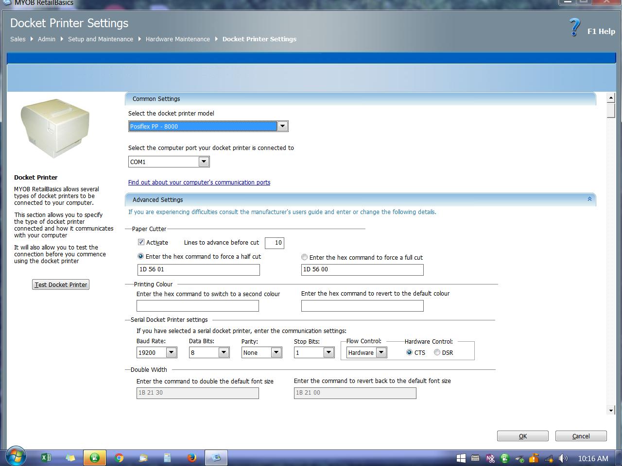 Solved: Posiflex PP-8000 issues in RetailBasics - MYOB Community