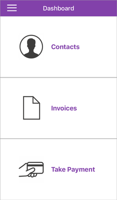 The MYOB Invoices dashboard - your hub for invoicing on the go.