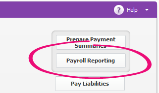 Payroll Reporting on the Payroll command centre