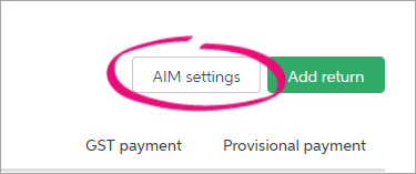 Map your accounts from the AIM settings page.