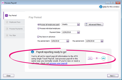 New payroll reporting info box