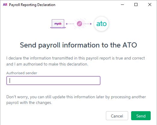 Declaration during pay run