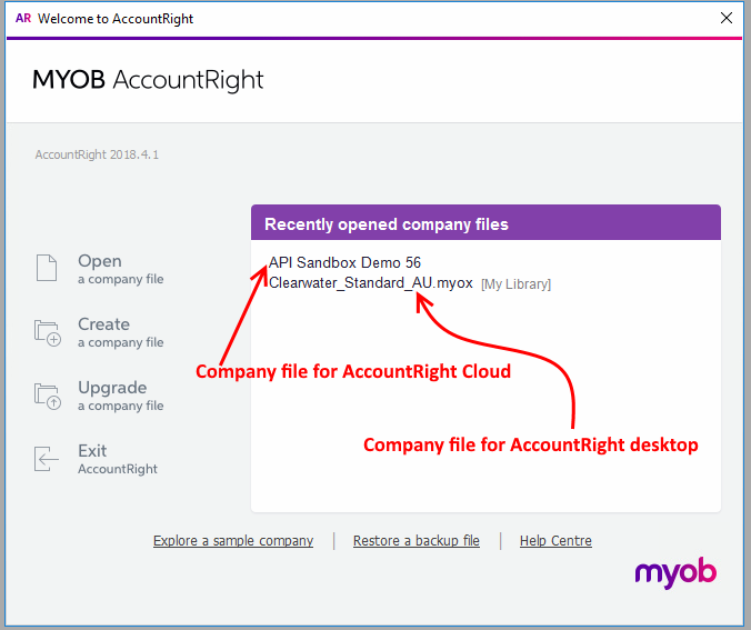 Sample Company Files for MYOB AccountRight Desktop and Cloud