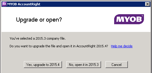 how to open myob dat file