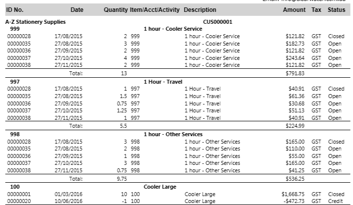 sales report sales customer detail sort by d myob community