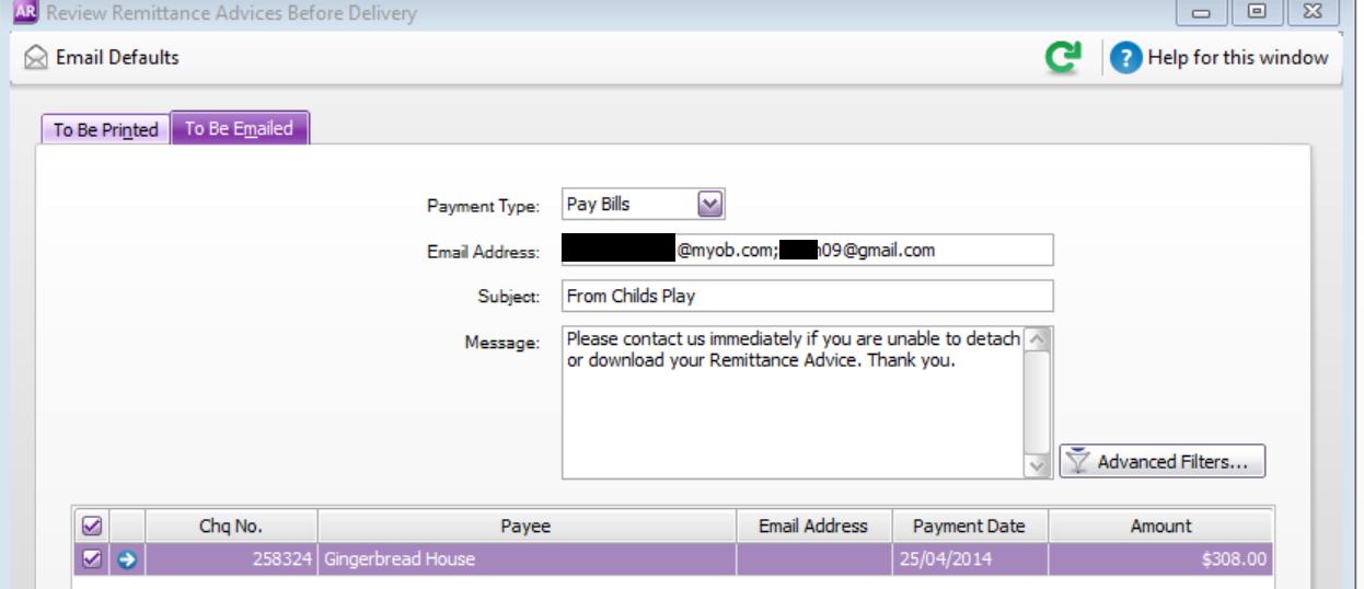Emailing Remittances To Multiple Addresses Myob Community
