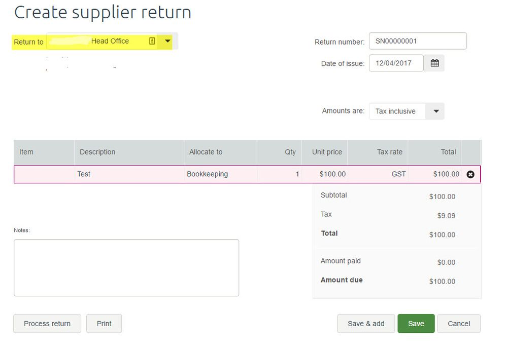 Create Supplier Returns MYOB Essentials.jpg