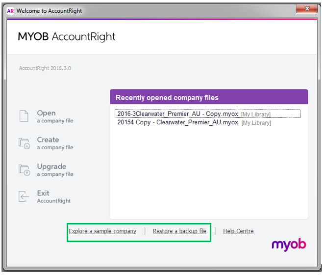 Solved: Changing MYOB File to another Serial Number/Subscr    - MYOB