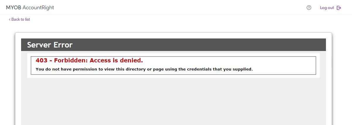 Solved: GST Online filing - (403 Forbiden:) - MYOB Community