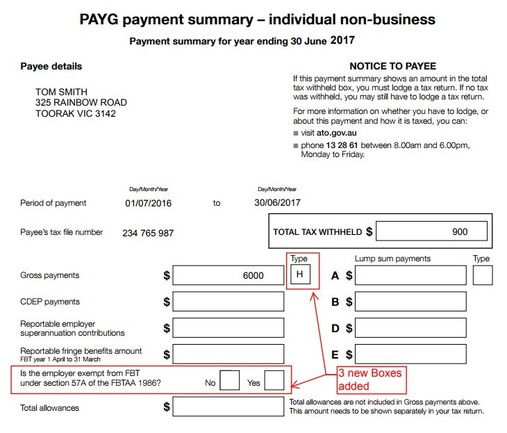PAYG PAYMENT SUMMARY TEMPLATE EBOOK