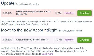 MYOB Upgrades available.PNG