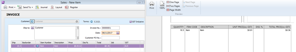 sales invoice rounding on unit price page 2 myob community