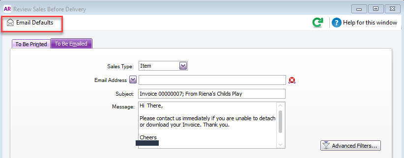 Dear Firstname On My Emailed Invoices MYOB Community - Invoice message to client