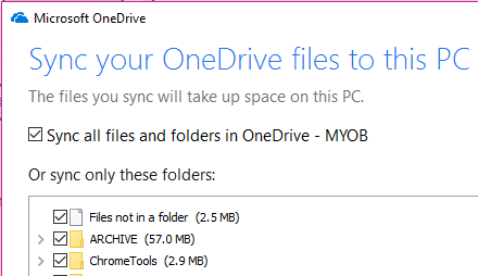 AccountRight 2018 2 not work with OneDrive - MYOB Community