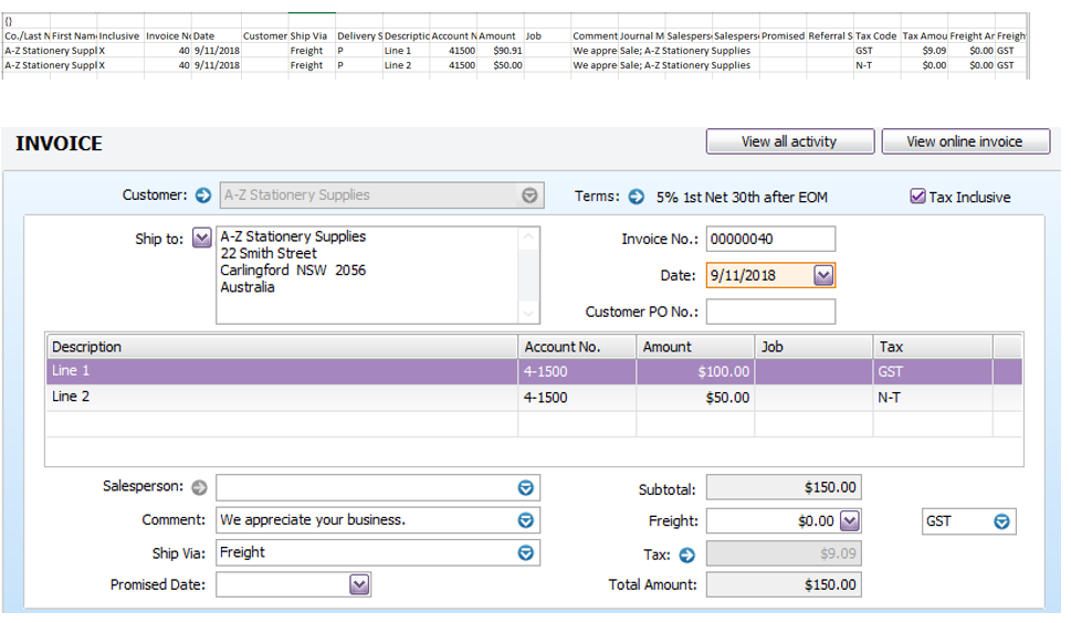 Importing purchases from SAP Concur - MYOB Community