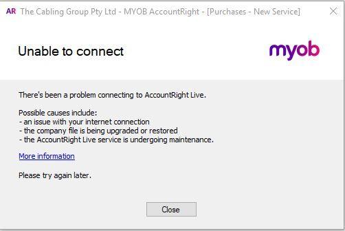 and another AR2018 4 1 crash - MYOB Community
