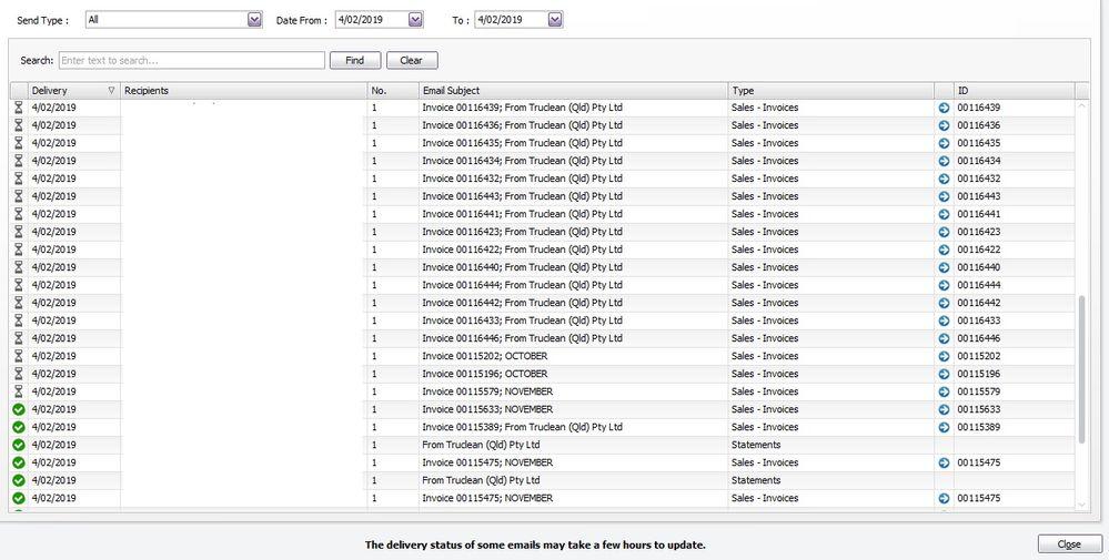 Emails not sending - MYOB Community
