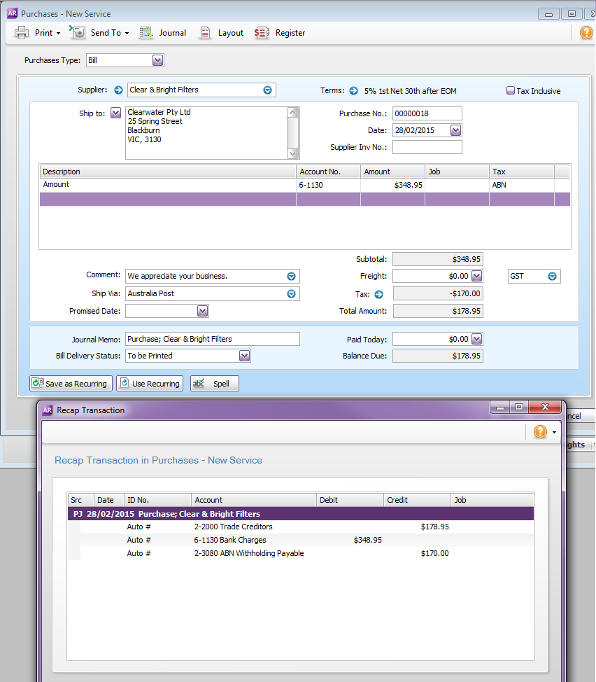 Solved No ABN Withholding MYOB Community - Invoice without abn