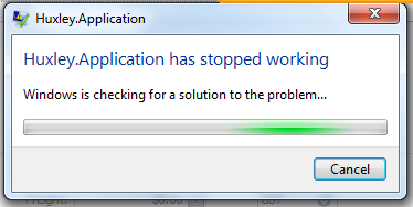scantomail application has stopped working