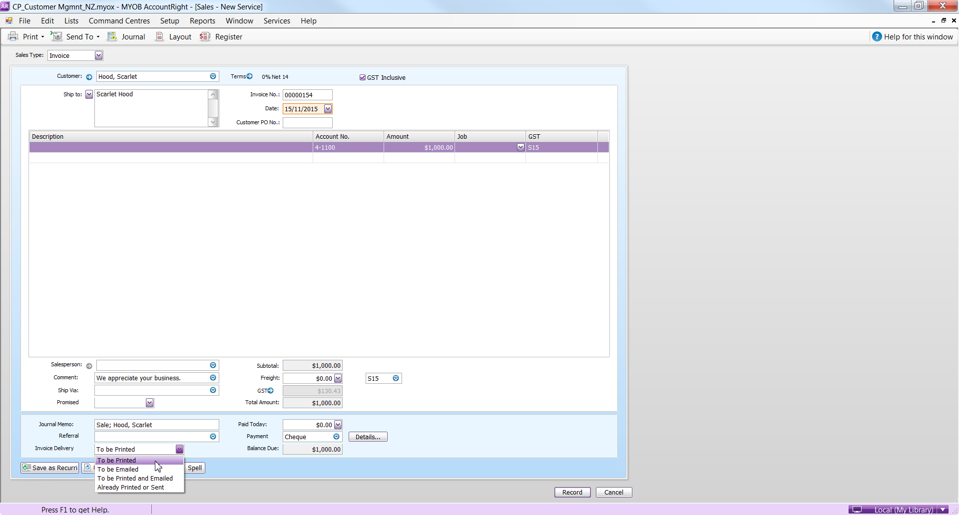 Print Invoices Advanced Filters Issue MYOB Community - Issue invoice