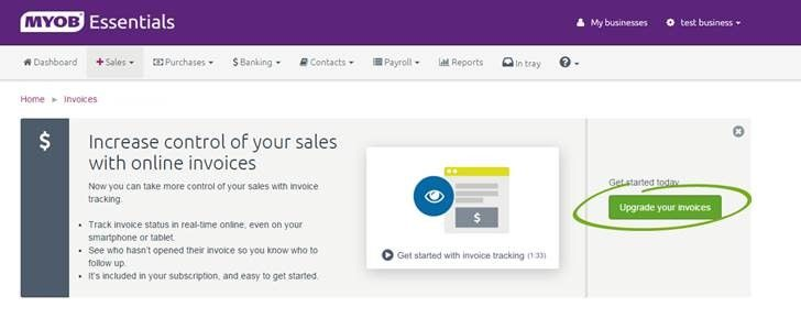 Make Tracking Your Invoices And Paying Your Employ MYOB Community - Online invoice tracking