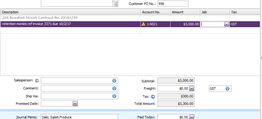 Retention Money Dont Let Clients Steal Your Cre MYOB Community - Invoice amount
